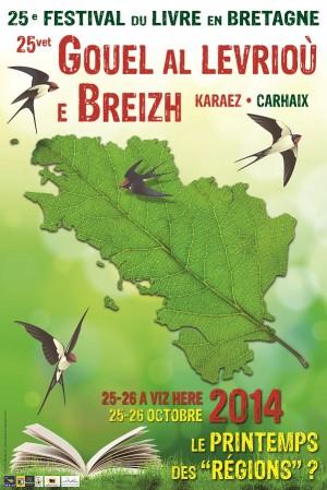 Affiche 2014 du Festival du livre en Bretagne